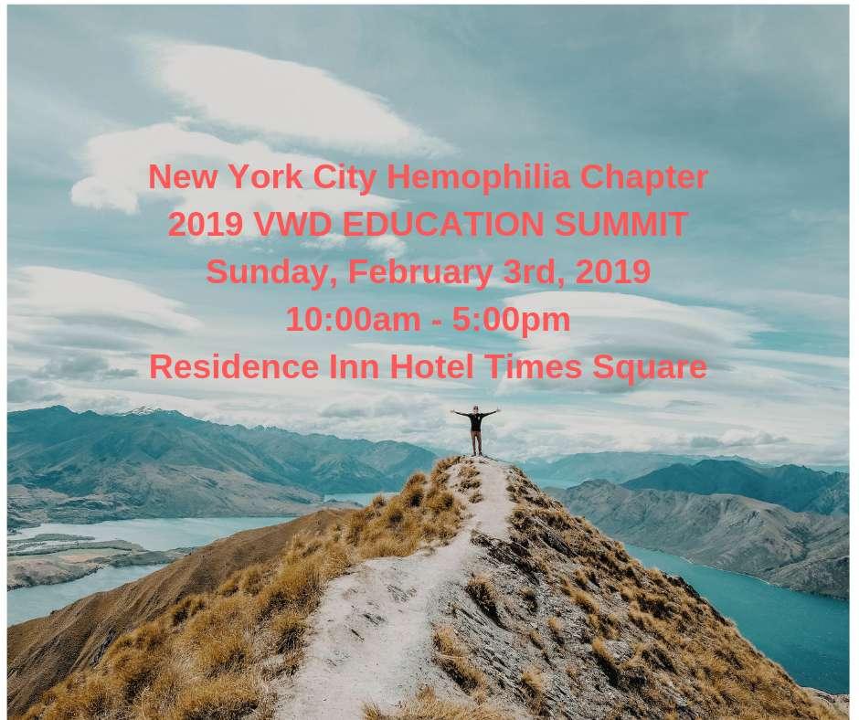 VWD Education Summit 2019 - NYC Hemophilia Chapter