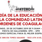 Día de la Educación para la Comunidad Latina con Desórdenes de Coagulación y Fiesta de Halloween